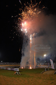 Fireworks going off before the feature starts