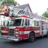 Springfield's Spare Ladder 8, a 1994 Pierce Lance 105 ft. RMA. She was replaced with a 1999 Lance RMA that was the former apparatus of the now disbanded Ladder Co. 10.