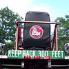 The back of the tillerman's seat on the current (as of Spring '09) Ladder 3 which is a 1971 Maxim S cab tiller.