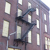 The fire escape to no where on Race St. in Holyoke.
