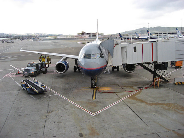Aaron's plane, which is different from Adrienne/Dan's