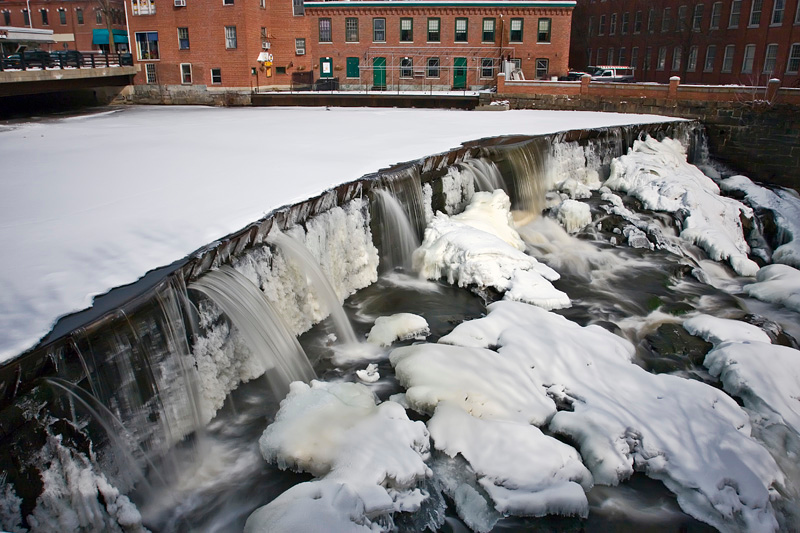 Cocheco River Waterfalls on Central Ave