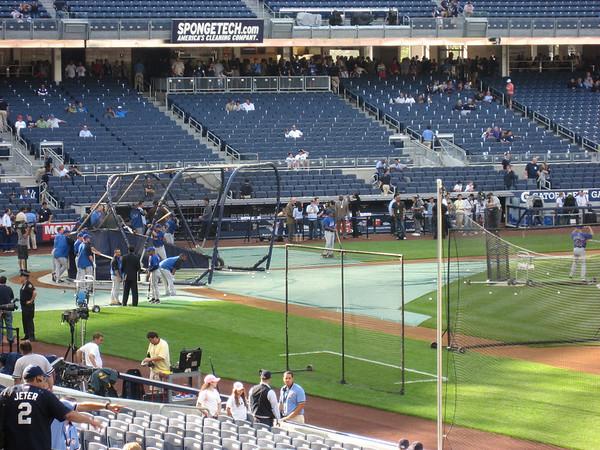 Mets batting practice