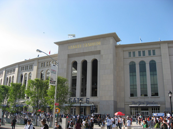 Outside of the New Yankee Stadium