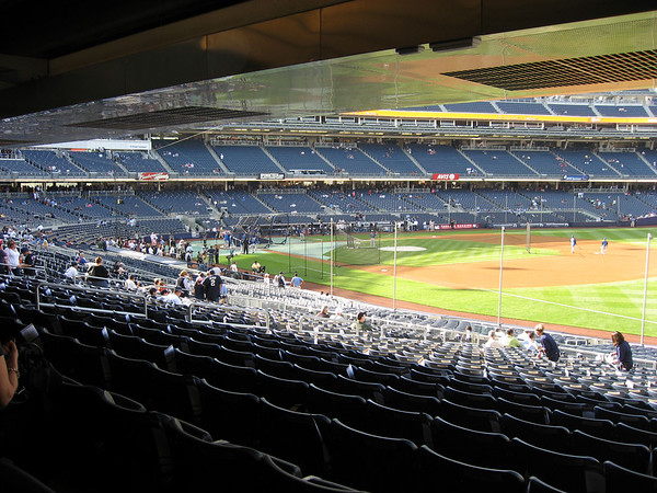 View of home plate as you walk around the main level
