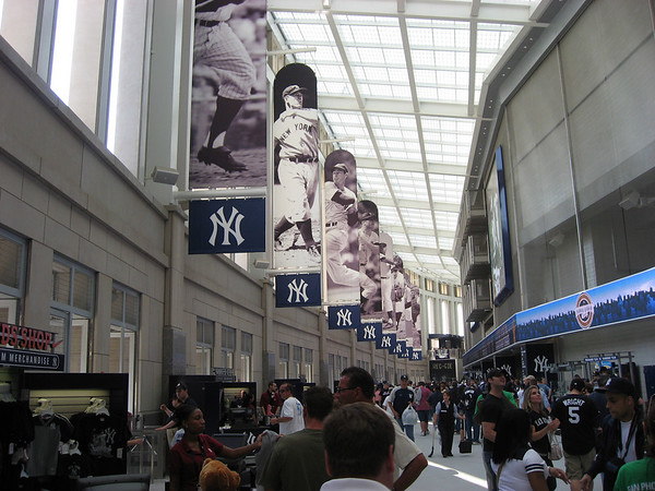 The entrance hallway at the new Yankee Stadium