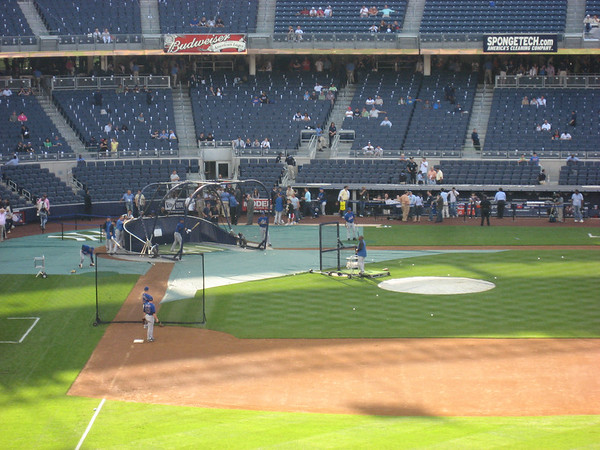 More views of Yankee Stadium, during the Mets batting practice