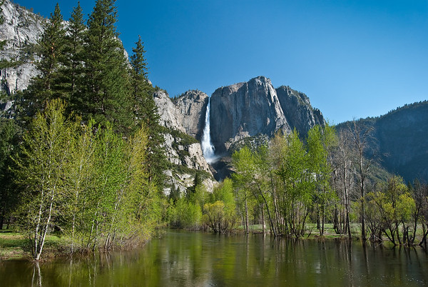 Yosemite Falls, as seen from the Bike Bridge on the way to the 4-Mile Trail