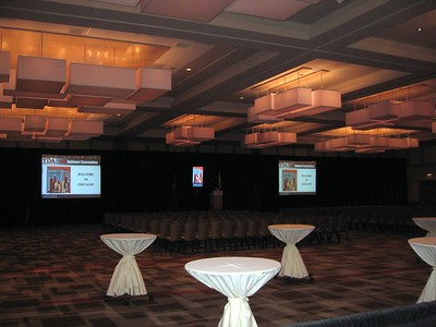 Setup for the Welcome Reception