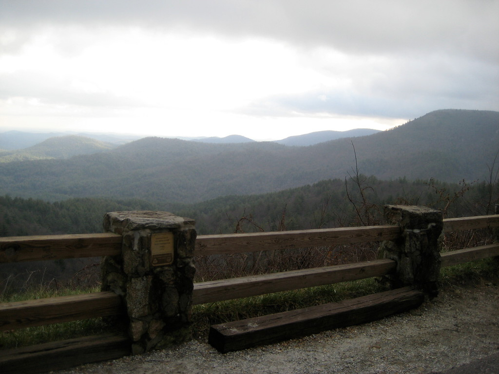 An overlook in the mountains of North Carolina