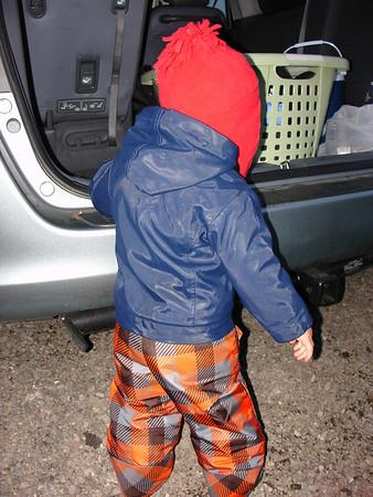 Sledding--December 2009