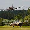 "N345AB - 1943 Douglas DC3C-S1C3G  (C-47)<br /> N2825B - 1940 North American RB-25 ""Miss Hap"""