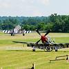 "N751RB - 1944 North American P-51D Mustang  ""Glamorous Gal""<br /> N345AB - 1943 Douglas DC3C-S1C3G  (C-47)"