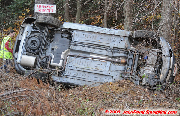 11/10/2009 Two Cars Rolled Over in Hermanville on Forest Park