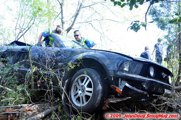 4/25/2009 Mustang in the Woods South of Gate 2 with Fly Out