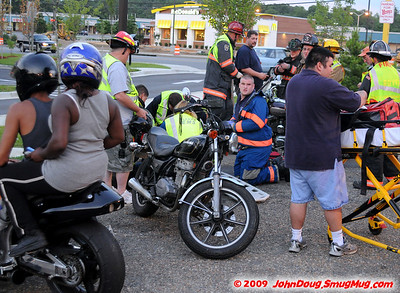6/23/2009 Motorcycle Accident at Wendys on Great Mills Rd