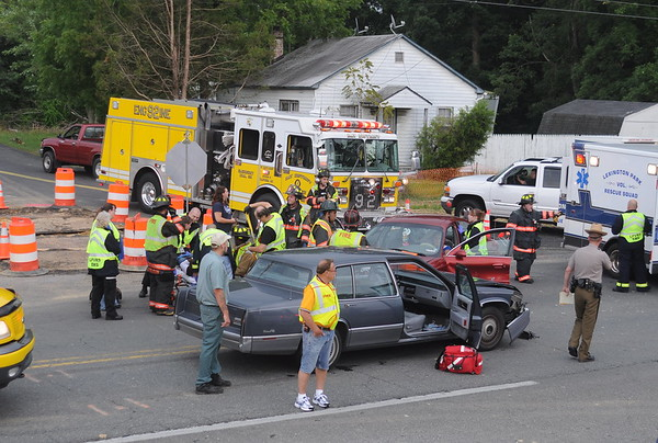 7/27/2009 Two Car Accident in front of Fire House on Chancellors