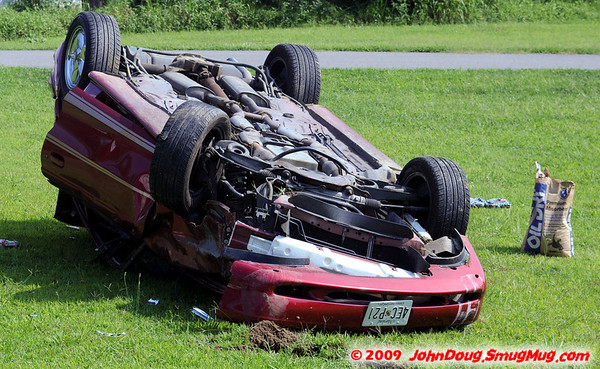 7/28/2009 Single Car Rollover on Medleys Neck Rd with Fly Out