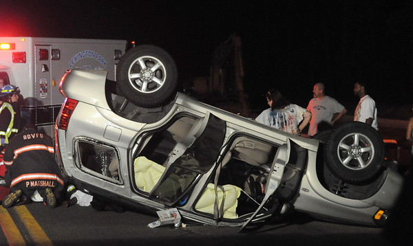 8/8/2009 Roll Over on Chancellors Run in front of Fire House