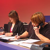 Volunteers from WJCT and local stations manned a phone bank to respond to viewer questions.