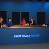 Panel 2: Stan Jordan, Rachel Raneri, Dr. Marianne Barnes, Charles Van Zant and WJCT moderator Karen Feagins.