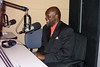 Black History Month 2009, Tukufu Zuber recording an interview for WJCT's In Context in the WJCT Studios
