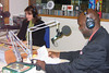 Black History Month 2009, Tukufu Zuberi recording a radio promo in the WJCT Studios