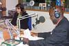 Black History Month 2009, Tukufu Zuberi recording a radio promo in the WJCT Studios