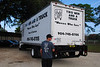 Two Men and a Truck delivered contributions to the Clara White Mission.