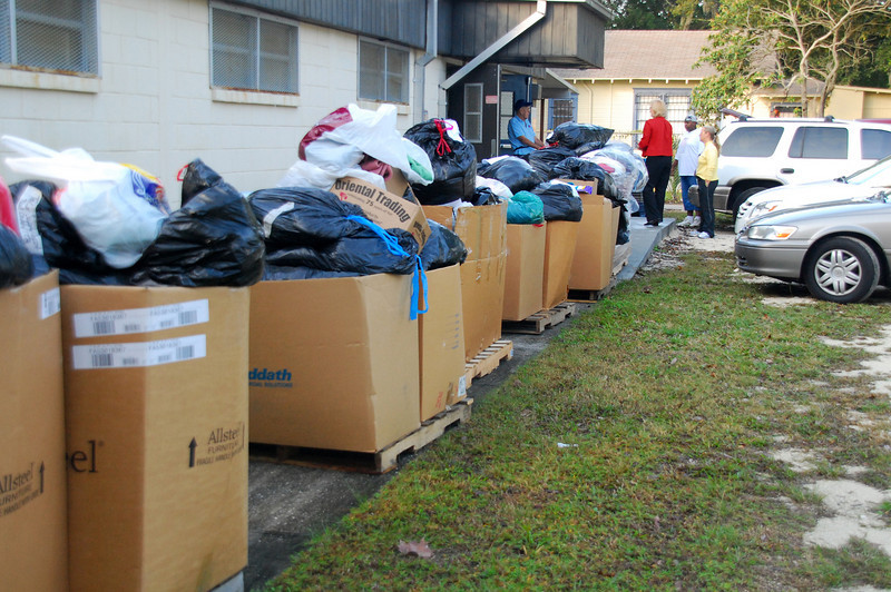 First Coast schools participated in the Sweater Drive. Their contributions were collected at the School Supply Depot.