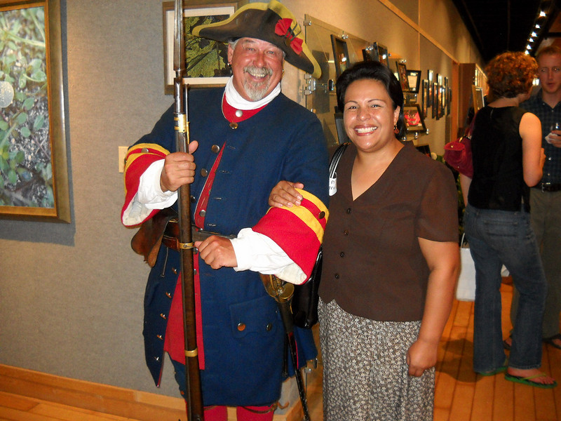 "Visitors entered through the Gallery, and were escorted by ""soldiers"" in period uniforms."