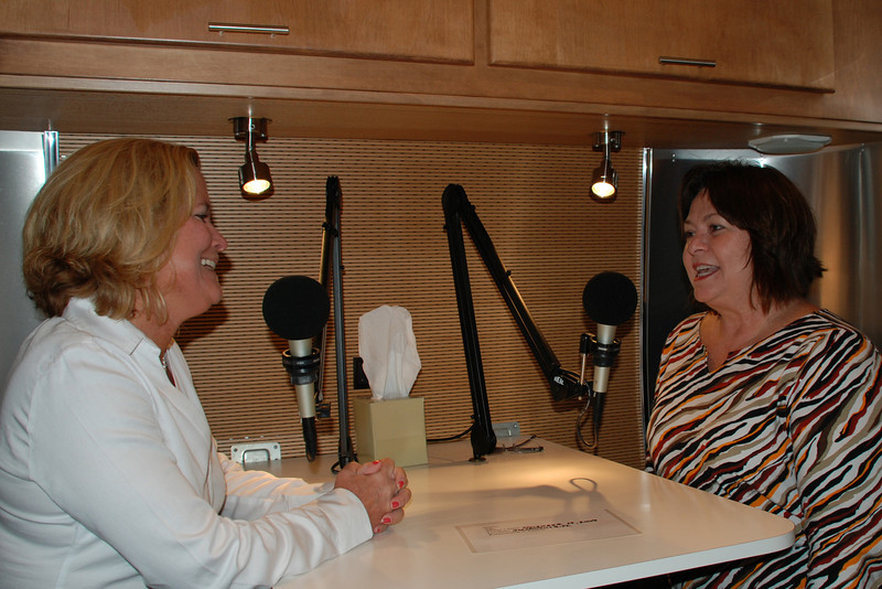 WJCT's Donna Carrasco (left) and Marian Murray.
