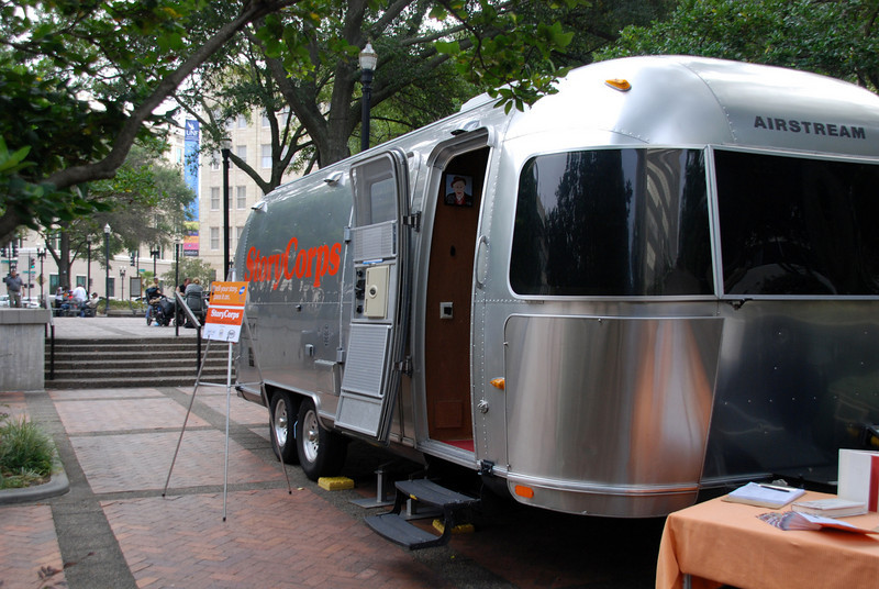 The StoryCorps Mobile Unit stops in Jacksonville during its cross-country tour.