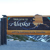 Entering Alaska via Klondike Highway bound for Skagway