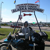 "6/21/09  Back to Mile ""0"" - Rpund trip complete: Mile ""0"" to Alaska and return!"