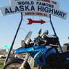 """Making it to mile """"0"""" of the Alaska Highway means that the really fun part is just beginning! May 30,2009"""