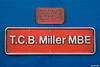 090126-021     Nameplate of HST powercar, class 43 no. 43048 T.C.B.Miller MBE