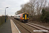 090106-006     SouthWest Trains class 158 unit no. 158881, on hire to East Midlands Trains, speeds past Thurgaton with the 08.25 Leicester - Lincoln Central.