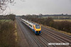 090123-003     Meridian unit, class 222 no. 222021 is captured passing Cossington with the 10.18 Derby - London St Pancras.