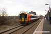 090106-006     SouthWest Trains class 158 unit no. 158881, on hire to East Midlands Trains, heading away from the camera, speeding past Thurgaton with the 08.25 Leicester - Lincoln Central.