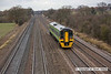 090123-006     Ex Central Trains class 158 unit no. 158852 is seen at Cossington, heading away from the camera with the 11.25 Leicester - Lincoln Central, East Midlands Trains service.
