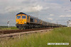 090605-015     GBRf class 66 no. 66711 is seen leaving Thoresby coliery junction, with train 6B56 Thoresby colliery - West Burton power station, loaded coal hoppers.