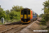 090502-001     East Midlands Trains class 156 unit no. 156414, passing Gonalston level crossing with the 08.35 Lincoln Central - Leicester.