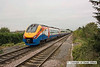 090914-019     East Midlands Trains class 222, meridian unit no 222007, seen heading away from the camera, leaving Long Eaton with, the 08.25 London St Pancras-Derby.