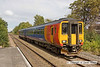 090821-007     East Midlands Trains class 156 unit no 156403, seen at Thurgaton, with the 14.35 Lincoln Central-Leicester.