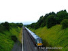 22017 + 22006 climb the bank from Cherryville Jct to Kildare with the 0905 Kilkenny - Heuston G.A.A. Special for the Kilkenny -v- Waterford Hurling Semi-Final at Croke Park, Dublin. Sun 09.08.09
