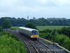 22037 waits at the signal protecting Cherryville Junction with the 0930 Heuston - Waterford. Sun 09.08.09