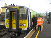 Donal Fallon and Tommy Nolan pose for the photograph with the last scheduled Rosslare service to be worked by 2800 Class DMU's, Sat 28.11.09. With thanks to 2810 Gricer
