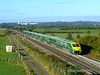 4002 in charge of the 0700 Cork - Heuston GAA Special at Cuddagh. 220 was on the rear. Sun 20.09.09