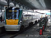 """22036 at Heuston with the 1650 to Galway. The Heuston - Inchicore """"taxi"""" loco 175 is in the backround. Thurs 05.03.09"""